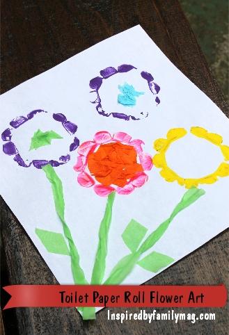 Spring kids craft toilet paper roll flower painting spanglishbaby spring kids craft toilet paper roll flower painting mightylinksfo