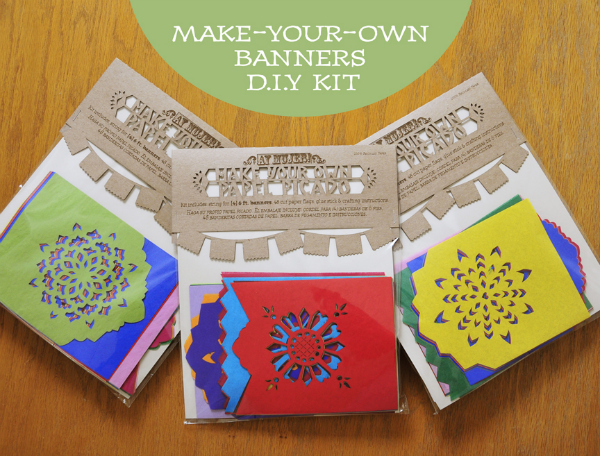 Make your own papel picado banner kit - spanglishbaby.com