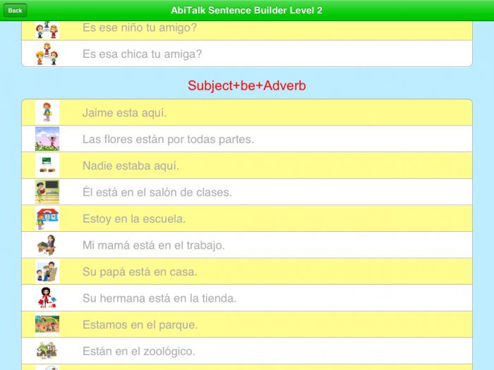Spanish Sentence Builder iPad App |SpanglishBaby