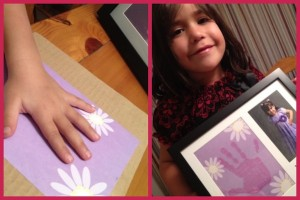 The Hallmark Magic Prints frame my daughter Vanessa will give her abuelita and her tía on Mother's Day!