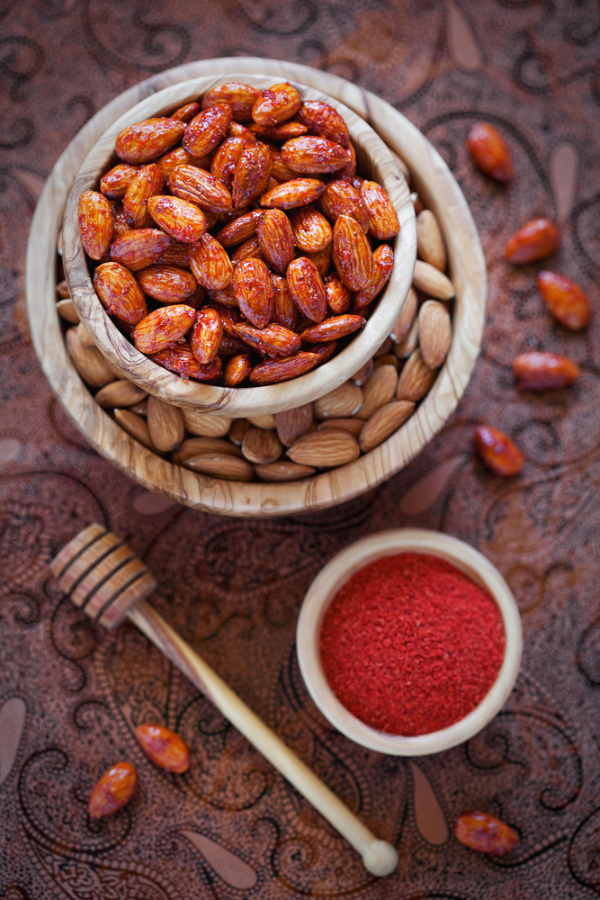 Caramelized Nuts with Honey and Chile Piquín recipe