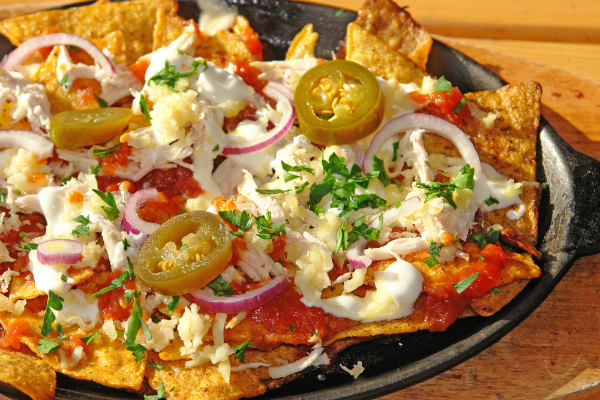 Chicken Nachos with Honey, Zucchini and Jalapeño Salsa recipe