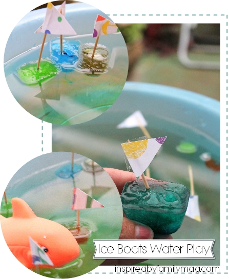 Summer Activity for Kids: Ice Boats Water Play - SpanglishBaby.com