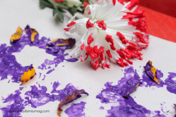 Kids Art Activity: Painting with Flowers