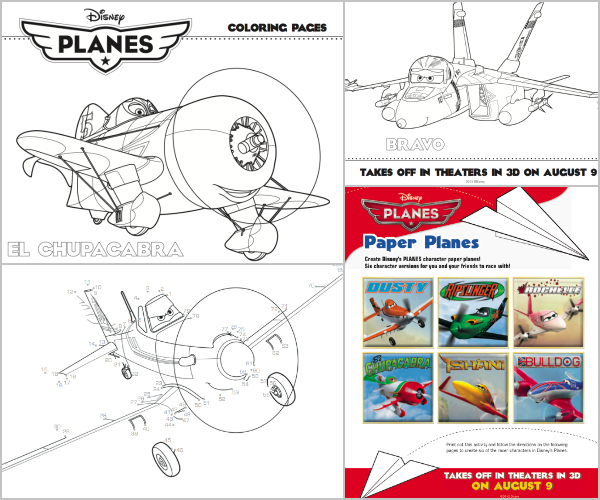 Disney's PLANES Coloring & Activity Sheets {Printable}