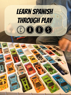 learn spanish through play with cars - fortheloveofspanish.com