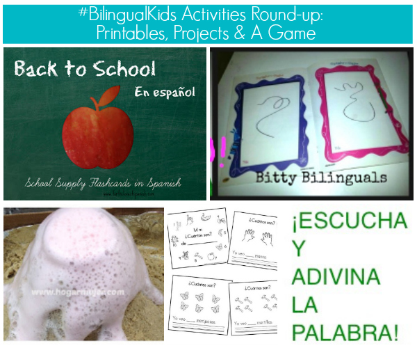 #BilingualKids Activities Round-up: Printables, Projects & A Game