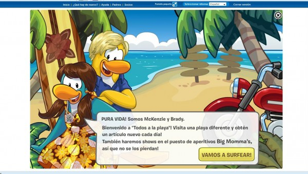 club penguin teen beach movie in spanish