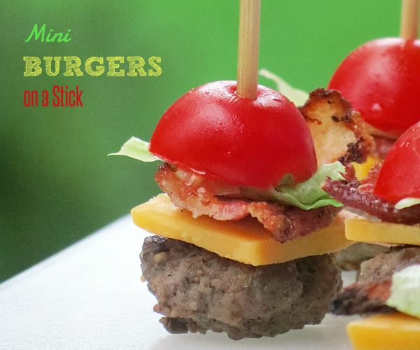 Mini Burgers on a Stick