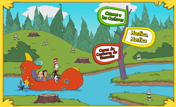 Cat in the hat games in spanish en español