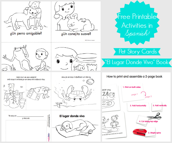 Free Story Cards Book Printable in SpanishSpanglishBaby