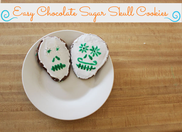 Easy Chocolate Sugar Skull Cookies for Día de Muertos {Recipe}