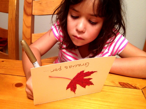 Fall Craft: Easy DIY Gratitude Cards in Spanish
