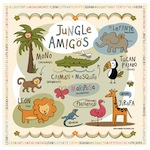 Jungle Animal Bilingual Canvas Wall Art for Children