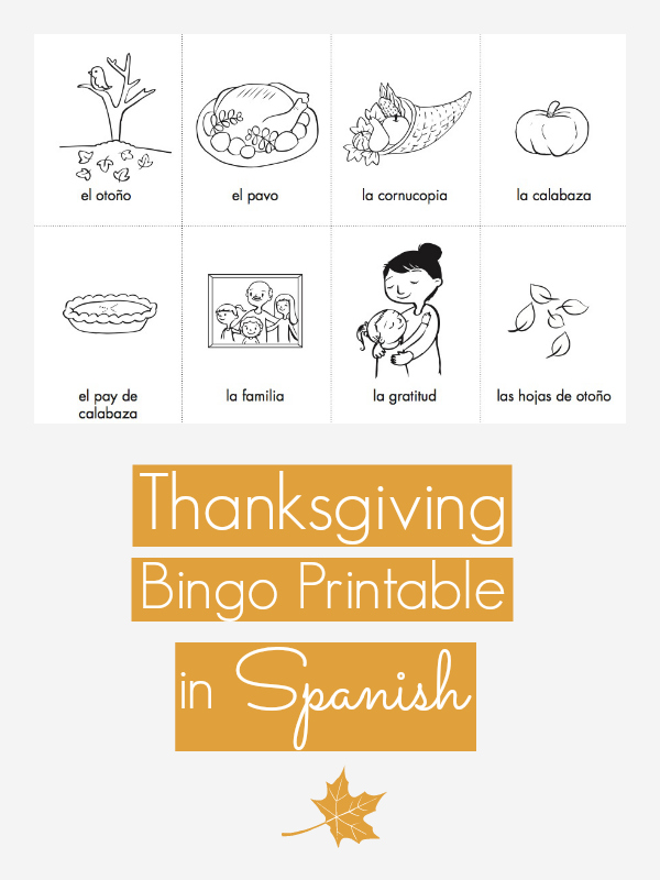 Free Thanksgiving Bingo And Memory Printable Games In