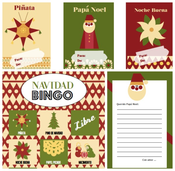 Free Navidad/Holidays activities and games in Spanish